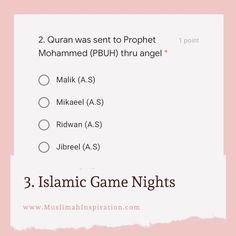 Islamic Game Nights with Family- Ramadan Quiz