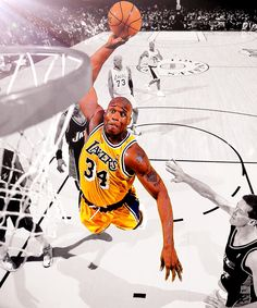 Shaq Attack! Dear Basketball, Basketball Posters, Sports Basketball, Basketball Legends, Hoop Games, Shaquille O'neal, Sport Hall, Sports Training, Nba Champions