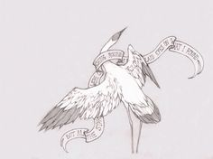 Crane Wife The Decemberists Could quite possibly be a beautiful tattoo Dream Tattoos, New Tattoos, Cool Tattoos, Tatoos, Heron Tattoo, 3 Tattoo, Crane Tattoo, The Decemberists, Tattoo Sketches