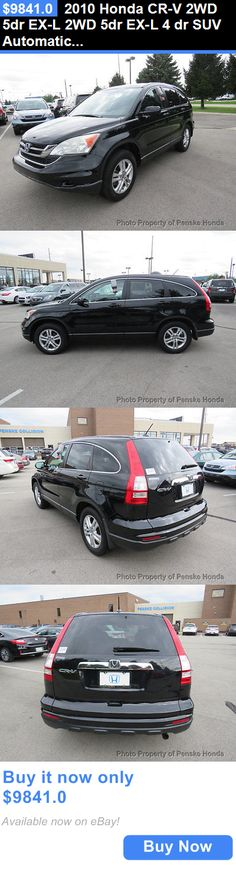 SUVs: 2010 Honda Cr-V 2Wd 5Dr Ex-L 2Wd 5Dr Ex-L 4 Dr Suv Automatic Gasoline 4 Cyl Black BUY IT NOW ONLY: $9841.0