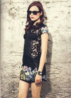 emma stone...i just think she is too cool...plus i am envious she can wear 80s raybans without looking stupid, like me