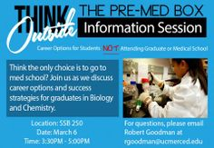 March 6, 2014 Pre-Med Info Session  SSB 250