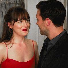 Resultado de imagem para 50 shades of grey red dress proposal