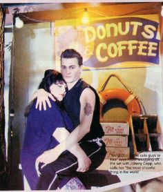 Johnny Depp & Ricki Lake on the set of Cry-Baby