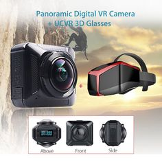 "BOBLOV Q20 360 Degree Panoramic HD 1080P Wifi Digital VR Photography Video Capture 0.82"" OLED Camera + UCVR VIEW 3D VR Glasses //Price: $286.10//     #electonics"