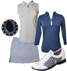 Platinum and Navy Golf Outfit