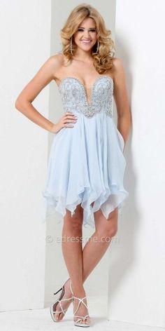 Handkerchief Mini Prom Gown by Tony Bowls Shorts #dresses #fashion #designer #beauty #designerdresses #tonybowls #edressme