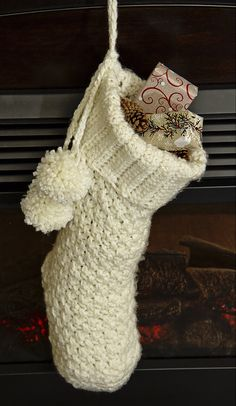 Christmas Stocking by speckledfrogcrochet