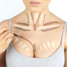Breast contouring by @kaseyrayton #hudabeauty