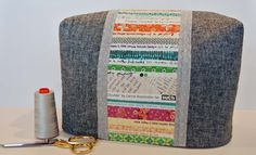 Sewing machine cover: Making Your Own Selvage Fabric Cute Sewing Projects, Scrap Fabric Projects, Fabric Scraps, Sewing Hacks, Sewing Crafts, Sewing Room Decor, My Sewing Room, Quilting Tutorials, Sewing Tutorials