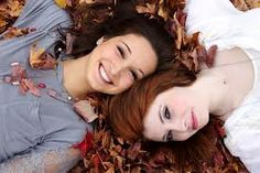 Layin' in the leaves!