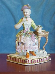 Antique Royal Vienna Dresden Smell Senses Lady Flowers Perfume Bottle Figure | eBay