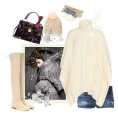"""""""Here comes the snow"""" by juliabachmann ❤ liked on Polyvore featuring Magdalena, Stuart Weitzman, Barneys New York, Dsquared2, Fendi and Miu Miu"""