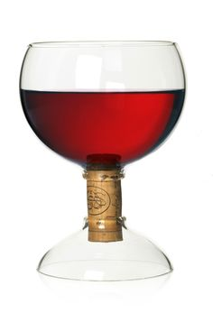 Corked glass
