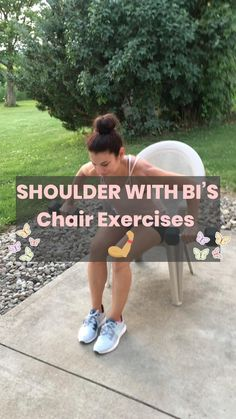 Gym Workout For Beginners, Gym Workout Tips, Fitness Workout For Women, Fitness Diet, Workout Videos, Fun Workouts, Chair Exercises, E Sport, Healthy Exercise