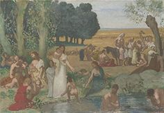 Perfect Effect Canvas the Beautiful Art Decorative Canvas Prints Of Oil Painting Pierre Cecile Puvis De Chavannes Summer  8 X 12 Inch  20 X 29 Cm Is Best For Game Room Artwork And Home Artwork And Gifts