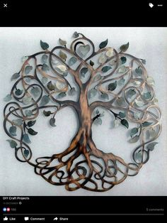"""Outstanding """"metal tree art decor"""" info is offered on our site. Read more and you wont be sorry you did. Metal Tree Wall Art, Metal Art, Gray Tree, Painting Shower, Popular Crafts, Tree Artwork, Art Decor, Decoration, Unique Home Decor"""