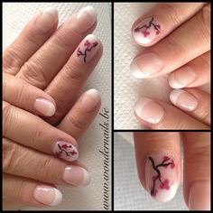 Gorgeous french nails with awesome autumn accentnails