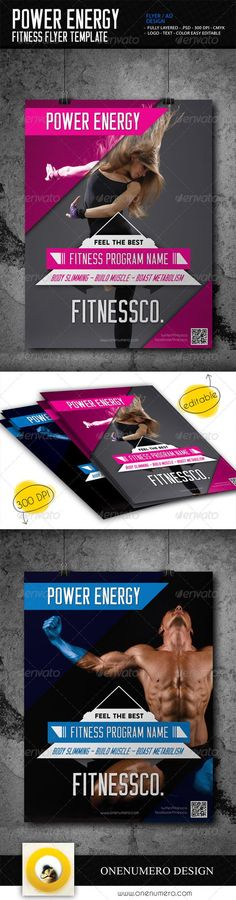 Fitness Flyers Bundle Flyer template, Brochures and Layout design - fitness flyer