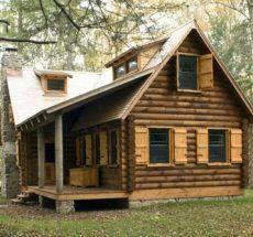 I want a log cabin home.