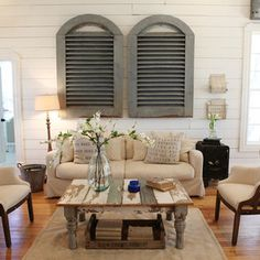 The Farmhouse - Farmhouse - Living Room - Other Metro - Magnolia Homes