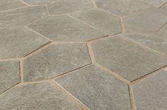 Slate Tile - Meshed Back Patterns - Silver Gray / Flag Stone Pattern