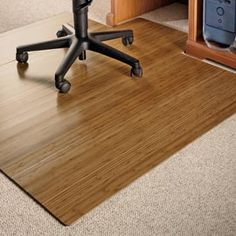 bamboo office chair mat protect floors and make your chair easy to roll - Office Chair Mat