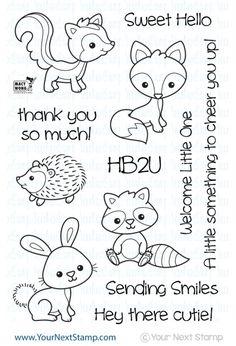 Woodland Cuties stamp set - #yournextstamp