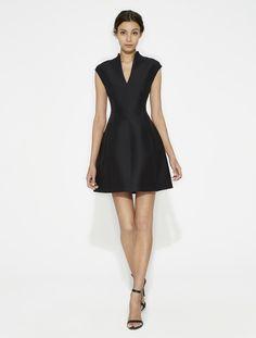 Structured Silk Faille Dress
