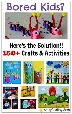 150 Childrens art craft activities for kids | 150+ Art and Craft Activities for kids to make  |