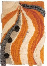 Elontie I Finland Rya Rug, Art Textile, Rug Hooking, Wall Hangings, Tribal Tattoos, Weave, Carpet, Textiles, Rugs