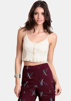 Staying In Lace Crop Top at #threadsence @ThreadSence