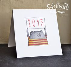 What's new at Stampin' Up for 2015? Cheerful Critters...neat for graduation card with the year added or many more ideas