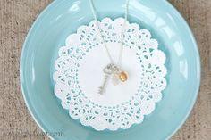 diy birthstone charm necklace