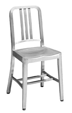 Emeco Navy Chairs by Emeco - lightweight, indestructible aluminum, very comfortable if a little chilly