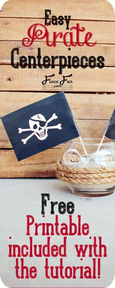 I love how easy these are - and best of all there is a free printable! This will be perfect for the pirate party that's coming up!