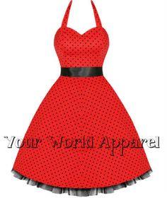H/&R London Neckholder-Kleid FLOCK DOT DRESS