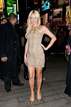 Paris Hilton arriving at her hotel after Letterman February 17 2011