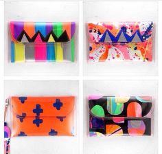 ❤️ Handmade Wallets, Handmade Handbags, Neon Bag, Pouch Pattern, Diy Handbag, Art Bag, Create And Craft, Diy Embroidery, Handmade Accessories