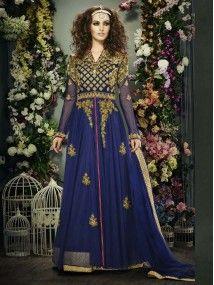 Blue Color Indian Ethnic Designer Anarkali Salwar Kameez Suit