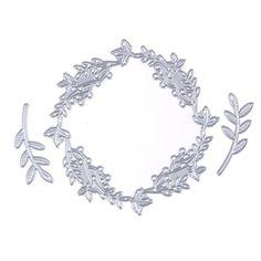 3pc/Set Flower Garland Leaves Cutting Dies Stencil DIY Scrapbook Album Pape  Features:  Condition: 100% Brand New &High Quality  Quantity: 1 Pcs  Material: Carbon steel  Size app: 9x9cm; 4.4x1.5cm; 4.4x1.5cm  Color: Silver  Conversion: 1cm=0.39inch/1 inch=2.54cm