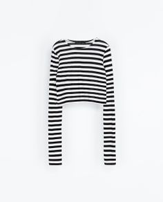 ZARA - WOMAN - STRIPED CROPPED T-SHIRT