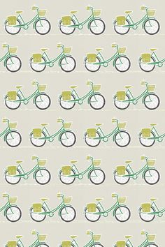 Cykel Ivy, Apple and Slate fabric by Scion
