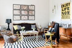 House Tour: A Renovated Classic Buenos Aires Home | Apartment Therapy    Love the cut up map on the wall