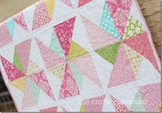 Pink Pinwheels Quilting Detail by the Crafty Cupboard