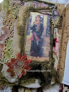 Suziqu's Threadworks: A Fabric Lacebook/Journal Request for a Best Friend