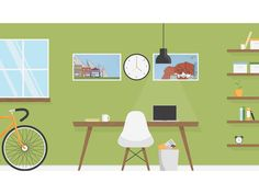 Super Cool Home Offices Illustrations BY TAYLOR SCHLABACH