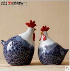 Fait à la main grandes figurines de poulet en céramique décor à la maison en céramique coq poules ornement artisanat chambre décoration porcelaine animal figurine de la boutique en ligne   Aliexpress mobile