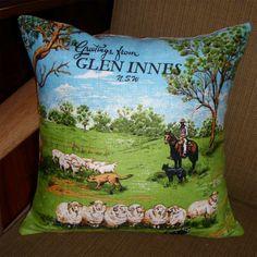 Vintage Tea Towel Cushions Bob Window