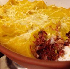 Escondidinho de Carne Seca e Abóbora – Cuecas na Cozinha - Blog de Gastronomia, Culinária e Dicas de Viagem Gourmet
